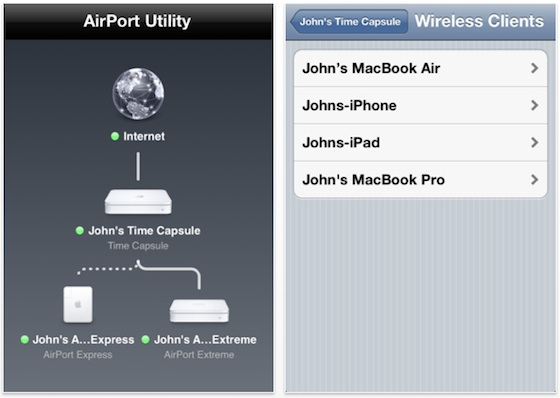 Airport utility app apple